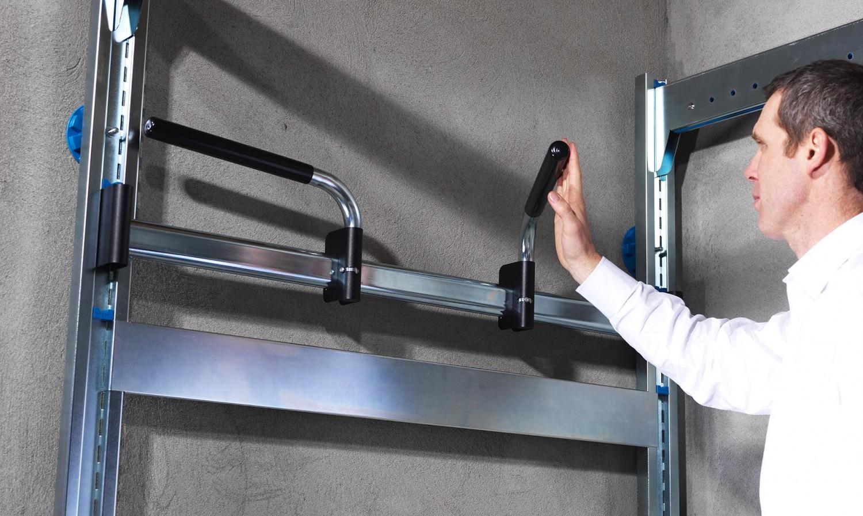 Porte vélo double escamotable pour rangement de garage