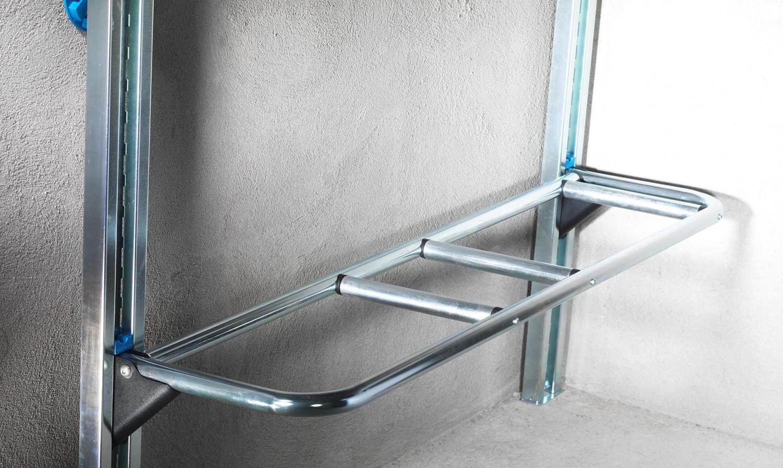 Porte 2 Roues Escamotable Pour Rangement De Garage Lodus Ref 51050