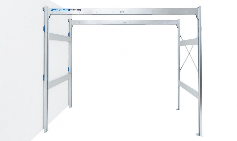 kit de fixation sol mur pour rangement de garage lodus ref 51088. Black Bedroom Furniture Sets. Home Design Ideas
