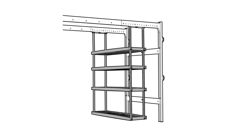 Tag re mobile 4 plateaux pour rangement de garage lodus for Lodus rangement garage
