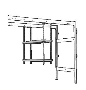 Lodus - etageres 2 plateaux
