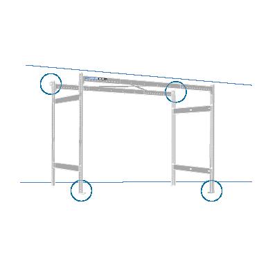 Lodus - portique 3.3 avec fixation grand côté