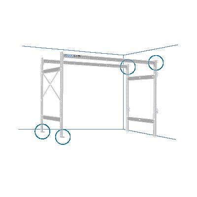 Lodus - portique 3.3 avec fixation petit côté