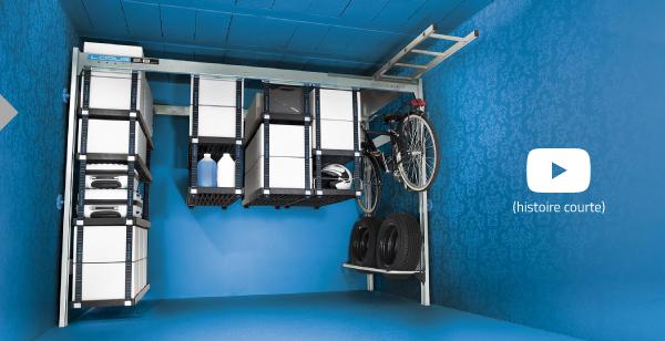 Dressing modulable pour garage portiques et tag res de for Lodus rangement garage